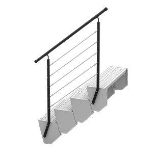 Schody modułowe barierka nowoczesna
