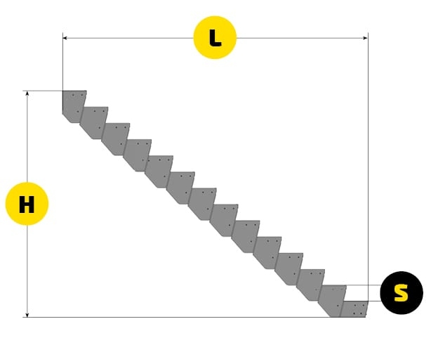 modular stairs technical dimensions